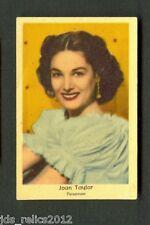 1950's Dutch Gum Card Small Text JOAN TAYLOR The Savage OFF LIMITS War Paint