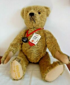 Hermann Limited Edition Large Growler Teddy Bear, Bell, Tags,Frederique 940/1000