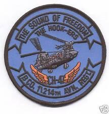 B CO 1/214 AVN REGT THE HOOK-ERS patch