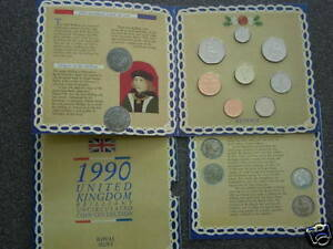 1990 UK DECIMAL BU UNC ROYAL MINT 8 COIN COLLECTION