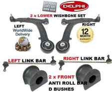 Per FIAT PANDA 03 & GT 2x ANTERIORE FORCELLA Arm & 2x STABILIZZATORE Bar & 2 ANTI ROLL BOCCOLE