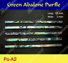 Free Shipping, Straight Abalone Purfle 55mm x 2mm (70pcs) (Pu-A2)