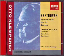 Otto Klemperer: Beethoven Symphony No. 3 eroica Leonore Overture 2 3 EMI CD 1955