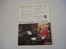 advertising Pubblicità 1988 ROVER 213 SE 1300