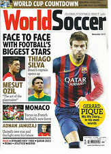 WORLD SOCCER,  NOVEMBER, 2013 ( GLOBAL FOOTBALL SINCE 1960 ) WORLD CUP COUNTDOWN