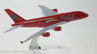 Coca Cola Airbus A380 Model Plane ref#933 Scale Apx 14cm Long Diecast Metal