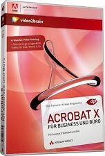 video2brain Acrobat X / 10 für Business & Büro, Video-Training DVD NEU