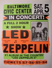 Led Zeppelin Globe Concert Tour Poster 1969