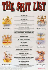 POSTER : SIGN :COMICAL:  THE SH*T LIST -    FREE SHIP      #3056     LP38 i
