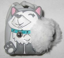 Bath & and Body Works Light-up Lighted PocketBac Holder Grey Husky Puppy Dog NEW
