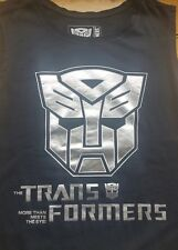TRANSFORMERS Unisex Black with SILVER TRANSFER Singlet /Tank SIZE 14 *AUTHENTIC*
