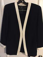 Linda Allen Ellen Tracy Black Blazer/skirt Size 12 Petite