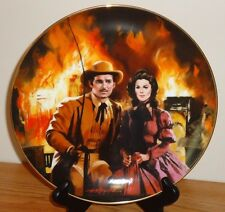 "Gone With The Wind THE BURNING OF ATLANTA 8.5"" collector's plate 1988"