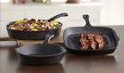Chef's Mark 3-Pc PreSeasoned Cast Iron Essential Pan Set New-Out of Original Box