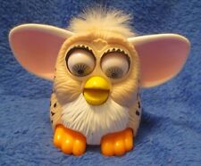 McDonalds Mini Furby Tan with Spots White Hair NO BAG