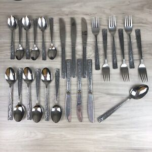 25 Pc SCC Supreme Cutlery Towle Stainless Mixed Flatware Japan Free Ship