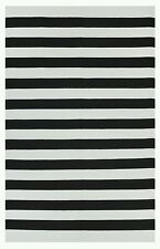 FabHabitat Indoor Cotton Rug Runner NANTUCKET Black & White 150x240cm