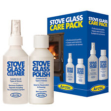STOVE GLASS CLEANING/RENOVATING KIT. GLASS CLEANER & POLISH