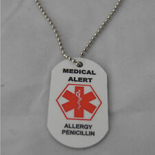 Medical Alert Necklace for Penicillin Allergy