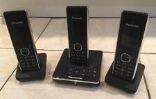 Panasonic KX-TG8561E 3 x Voip Cordless Phones 1 x with Answer machine