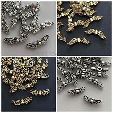 Tibetan silver or gold spacer beads Christmas angel butterfly wings 15 20 beads