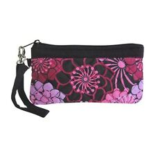 Wristlet Quilted Greg Inspirations Pastel Flowers Pink Purple Purse Accessory