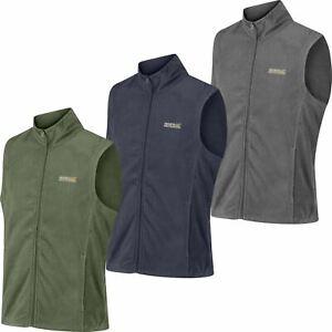 New Regatta Mens Tobias Lightweight Micro Fleece Zip Up Bodywarmer Gilet Jacket