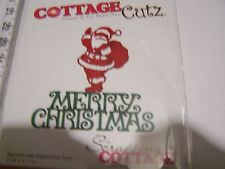 COTTAGE CUTZ  MERRY CHRISTMAS SANTA GREETING  METAL DIECHRISTMAS WINTER