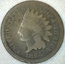1864 Indian Head Bronze Penny US Coin One Cent Coin 1c Good K31