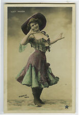 c 1905 French Cabaret Music Hall LUCY MANON in Costume photo postcard