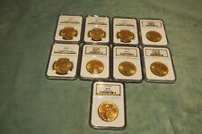 NGC MS62 ST GAUDENS $20 GOLD COINS (DIFFERENT YEARS)SET OF 9 PRICE IS FOR 1 ONLY