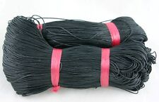 BLACK WAXED COTTON CORD 10 metres x 1mm Shamballa Macrame Jewellery Making