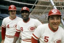 JOHNNY BENCH PETE ROSE AND GEORGE FOSTER CLASSIC BIG RED MACHINE AT BATTING CAGE