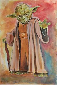 Yoda - Original Star Wars Watercolor Painting ±12x8in by Marušić Art