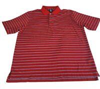 "FOOTJOY ""FJ"" Short Sleeve Polo Shirt Polyester Stretch Striped Red Men's, 2XL"
