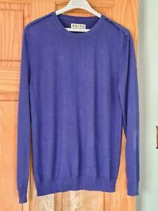 Mens REISS royal blue jumper sweater Size L