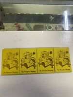 "(4) Vintage Celluloid Advertising Pocket Mirrior. "" The Kewpies Sleeping NOS"