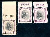 USAstamps Unused VF US $1 Presidential Plate # Sctt 832 832c 832g Magenta OG MNH