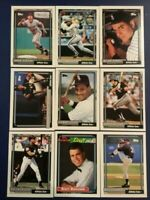 1992 Topps CHICAGO WHITE SOX Complete Team Set 30 SOSA, FRANK THOMAS Sharp LOOK