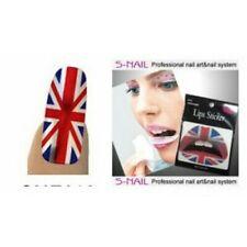 Union Jack British Royal Flag Lip Tattoo Sticker Nail Foils Red White Blue