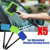 5X Washable Handy Windshield Car Window Glass Wiper Cleaner Brush Microfiber Pad