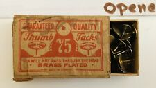 Thumbtacks- Vintage- Made In Germany- Brass Plated - Family Workshop Find (049)