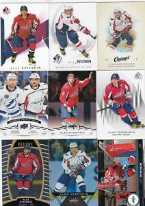 ALEXANDER OVECHKIN a lot of 9 DIFFERENTS CARDS   near mint  LOT 18           a