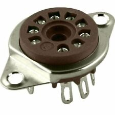 "9 pin Belton tube socket for 12AX7 EL84 - 3/4"" hole"