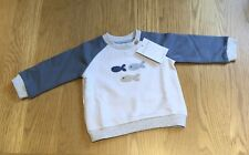 The Little White Company 🐟 Little Fish Sweatshirt, Age 3-6 Months - NWT