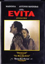 Evita (DVD, 1998, Widescreen, Spanish subtitles) Madonna,Antonio Banderas New