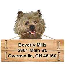 Cairn Terrier return address labels Die Cut To Shape