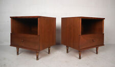 Pair of Mid-Century Walnut Nightstands (9745)NJ