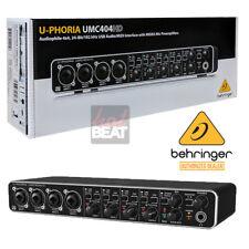 Behringer U-PHORIA UMC404HD Audiophile 4x4 USB Audio/MIDI Interface 110-240V