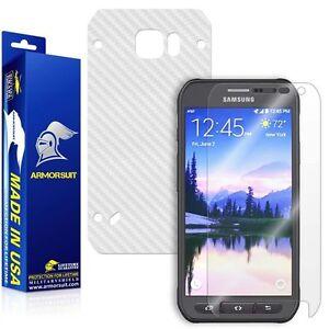 ArmorSuit MilitaryShield Samsung Galaxy S6 Active Screen Shield + White Carbon
